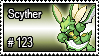 123 - Scyther by PokeStampsDex