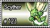 123 - Scyther by PokeStampsDex