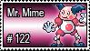122 - Mr. Mime by PokeStampsDex