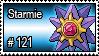 121 - Starmie by PokeStampsDex