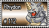 112 - Rhydon by PokeStampsDex