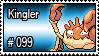 099 - Kingler by PokeStampsDex
