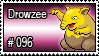 096 - Drowzee by PokeStampsDex