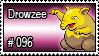 096 - Drowzee by PokeStampsDex