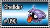 090 - Shellder by PokeStampsDex