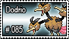 085 - Dodrio by PokeStampsDex
