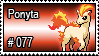 077 - Ponyta by PokeStampsDex