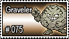 075 - Graveler by PokeStampsDex
