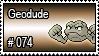 074 - Geodude by PokeStampsDex