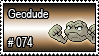 074 - Geodude by PokeStampsDex