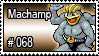 068 - Machamp by PokeStampsDex