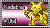064 - Kadabra by PokeStampsDex