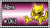 063 - Abra by PokeStampsDex