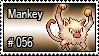 056 - Mankey by PokeStampsDex