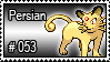 053 - Persian by PokeStampsDex