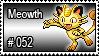 052 - Meowth by PokeStampsDex
