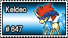 647 - Keldeo by PokeStampsDex