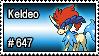 647 - Keldeo by PokeStampsDex