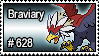 628 - Braviary by PokeStampsDex