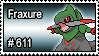 611 - Fraxure by PokeStampsDex