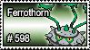 598 - Ferrothorn by PokeStampsDex