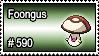 590 - Foongus by PokeStampsDex