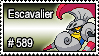 589 - Escavalier by PokeStampsDex