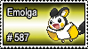 587 - Emolga by PokeStampsDex