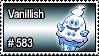 583 - Vanillish by PokeStampsDex