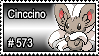 573 - Cinccino by PokeStampsDex