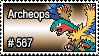 567 - Archeops by PokeStampsDex