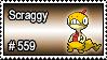 559 - Scraggy by PokeStampsDex