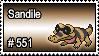 551 - Sandile by PokeStampsDex