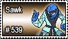 539 - Sawk by PokeStampsDex