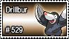 529 - Drillbur by PokeStampsDex