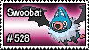 528 - Swoobat by PokeStampsDex