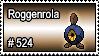 524 - Roggenrola by PokeStampsDex