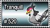 520 - Tranquill by PokeStampsDex