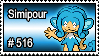 516 - Simipour by PokeStampsDex
