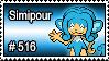 516 - Simipour by PokeStampsDex