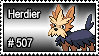 507 - Herdier by PokeStampsDex