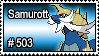 503 - Samurott by PokeStampsDex