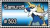 503 - Samurott by PokeStampsDex