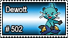 502 - Dewott by PokeStampsDex