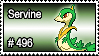 496 - Servine by PokeStampsDex