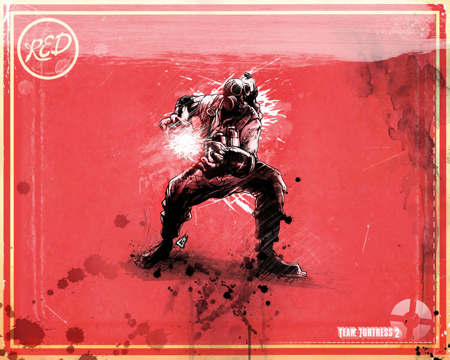 Pyro Wallpaper Red Small by GAVade