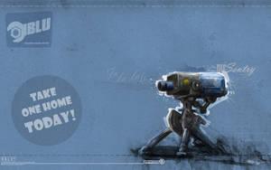 Mr Sentry Blu Wallpaper