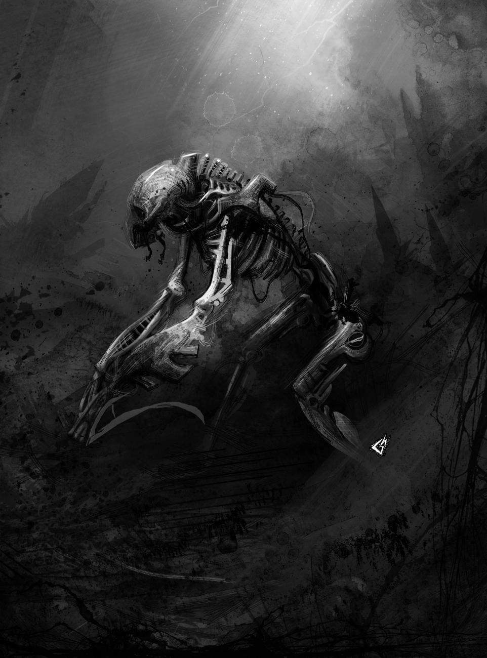 :Necron: Stalker Construct by GAVade