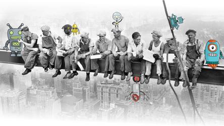 Empire State Building Construction + Robots