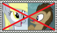 Anti Doctor Whooves X Derpy Stamp by FairyKitties22